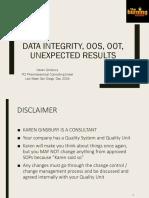 OOS , OOT & DATA INTEGRITY