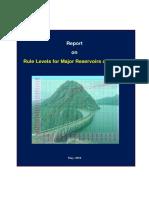 Rule Curve Major Reservoirs of Ksebl