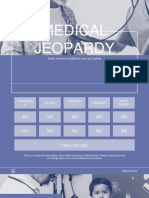 Medical Jeopardy