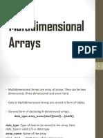 Multidimensional Arrays Ajay