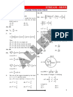 KVPY 2019 Stream SB SX Paper With Solutions