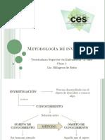 Metodología de Investigación. CLASE 1