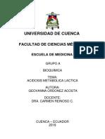 1. Acidosis Lactica