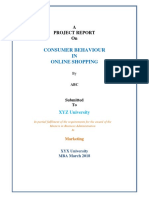 A Project Report on Consumer Behaviour in Online Shopping