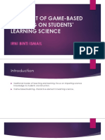 The Effect of Game-based Learning on Students'