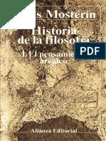 Historia de la Filosofia 1 - El pensamiento arcaico - Mosterin.pdf