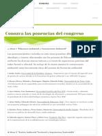 """Ponentes – Congreso Virtual Desarrollo Sustentable y Desafíos Ambientales """"Pensando Alternativas Para El Abordaje Ambiental"""""""