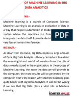 Challenges of Machine Learning in Big Data Analytics