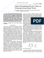 [Environmental and Climate Technologies] Influence of Biomass Pretreatment Process Time on Furfural Extraction From Birch Wood (1)