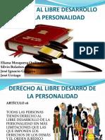 Derecho Al Libre Desarro de La Personalidad