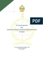Standard designs for adoption of roof top rainwater harvesting