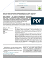 Diarrhea among hospitalized children under five A call for inclusion ofrotavirus vaccine to the national immunization program in Indonesia.pdf