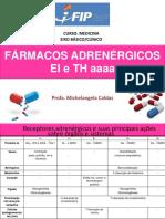 EI e TH Farmacologia adrenérgico 2019.1aa