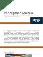 Pencegahan Malaria