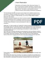 New Orleans Water Harm Restoration