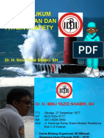 ETIKA HUKUM KEDOKTERAN DAN PASIEN SAFETY, dr Yazid Sabri, SH