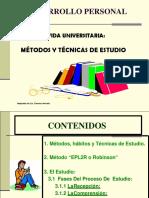 Metodos, Tecnicas y Estrategias de Estudio