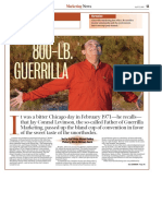 Guerilla Marketing - On Levinson Coverstory