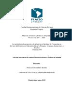 Resumen Ejecutivo Tesis de Maestría Flacso Patricia Píriz