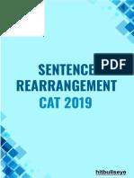 CAT 2019 Sentence Rearrangement