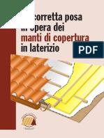 la corretta posa in opera dei manti di copertura in laterizio