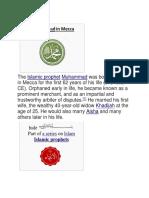 Hazrat Muhammad (S.A.W.W)  in Mecca.docx