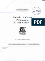 Bulletin of Government postings