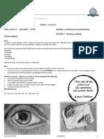 year 9 u1 visual arts assessment task and rubric