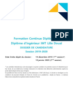 Dossier Candidature FCD IMT LD 2020