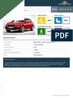 Euroncap 2019 Škoda Kamiq Datasheet