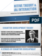 Cognitive Theory & Social Interaction