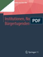 Institutionen, Normen, Bürgertugenden