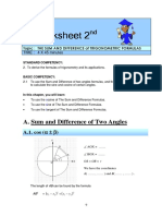 Worksheet 2 Sum and Difference Formulas