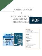 El Anillo de Giges - Indicadores de La Madurez de La Personalidad