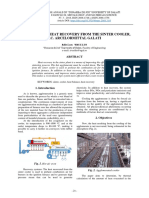 STUDIES ON THE HEAT RECOVERY FROM THE SINTER COOLER, S.C. ARCELORMITTAL GALATI