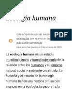 Ecología Humana - Wikipedia, La Enciclopedia Libre