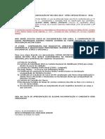 Edital Nº 001-004-2019 - Convocação