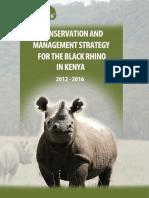 black rhino conservation