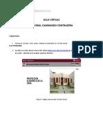 Tutorial Cambiando Contraseña Aula Virtual DUTIC V1