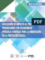 EVALUACIÓN DE IMPACTO AL PROGRAMA PROGRESANDO CON SOLIDARIDAD (PROSOLI)