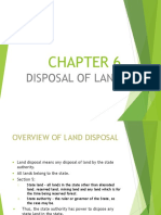 Disposal of Land