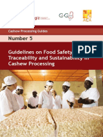 Guidelines on Food Safety, Traceability and Sustainability in Cashew Processing