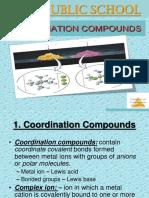 Co-Ordinate Compounds Ppt