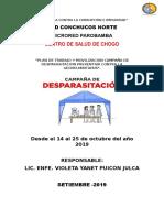 Plan de Trabajo de Antiparasitario Chogo 2019