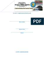 Activity Completion Report Template for TRAINING PROPONENTS