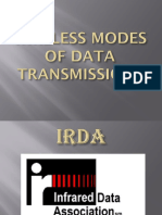 WIRELESS MODES OF DATA TRANSMISSIONS
