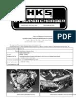 Установка HKS GT Supercharger перевод