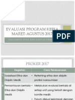 Evaluasi Program Kerja Etika Profesi2017