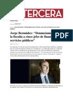 El Contralor Jorge Bermúdez Revela Una Masiva Fiscalización a 320 Reparticiones Públicas