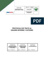 Protocolo de trato al usuario interno Y externo